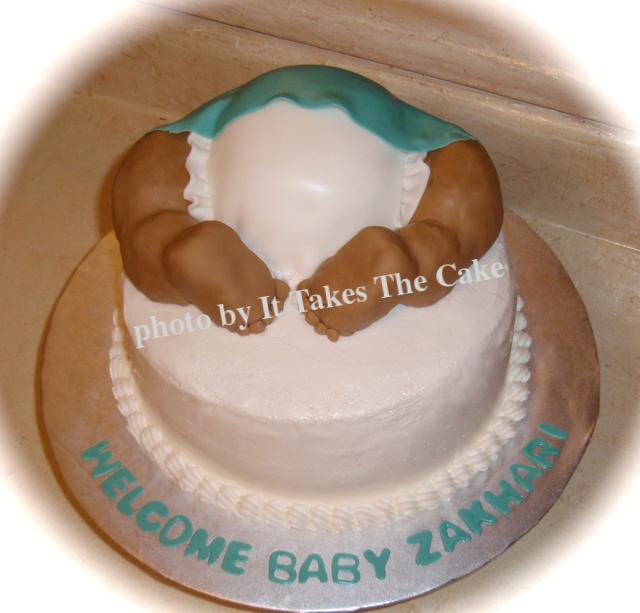 Baby's bottom baby shower cake.png