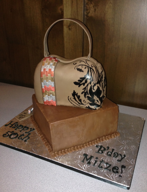 BIrthday Carved purse cake