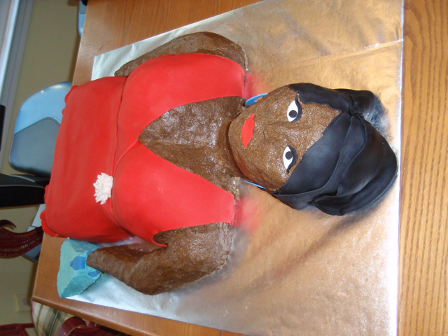 Carved Cake Lady