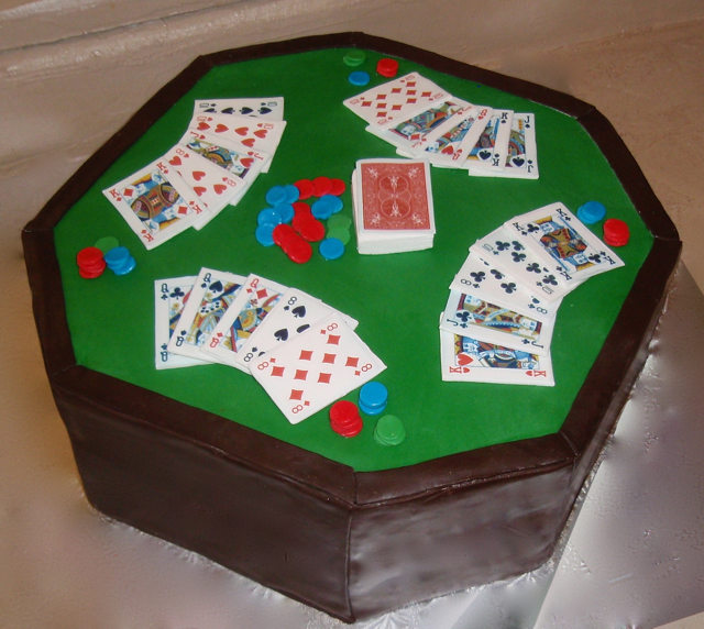 Birthday poker table cake