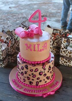 #leopardcake #pinkleopard