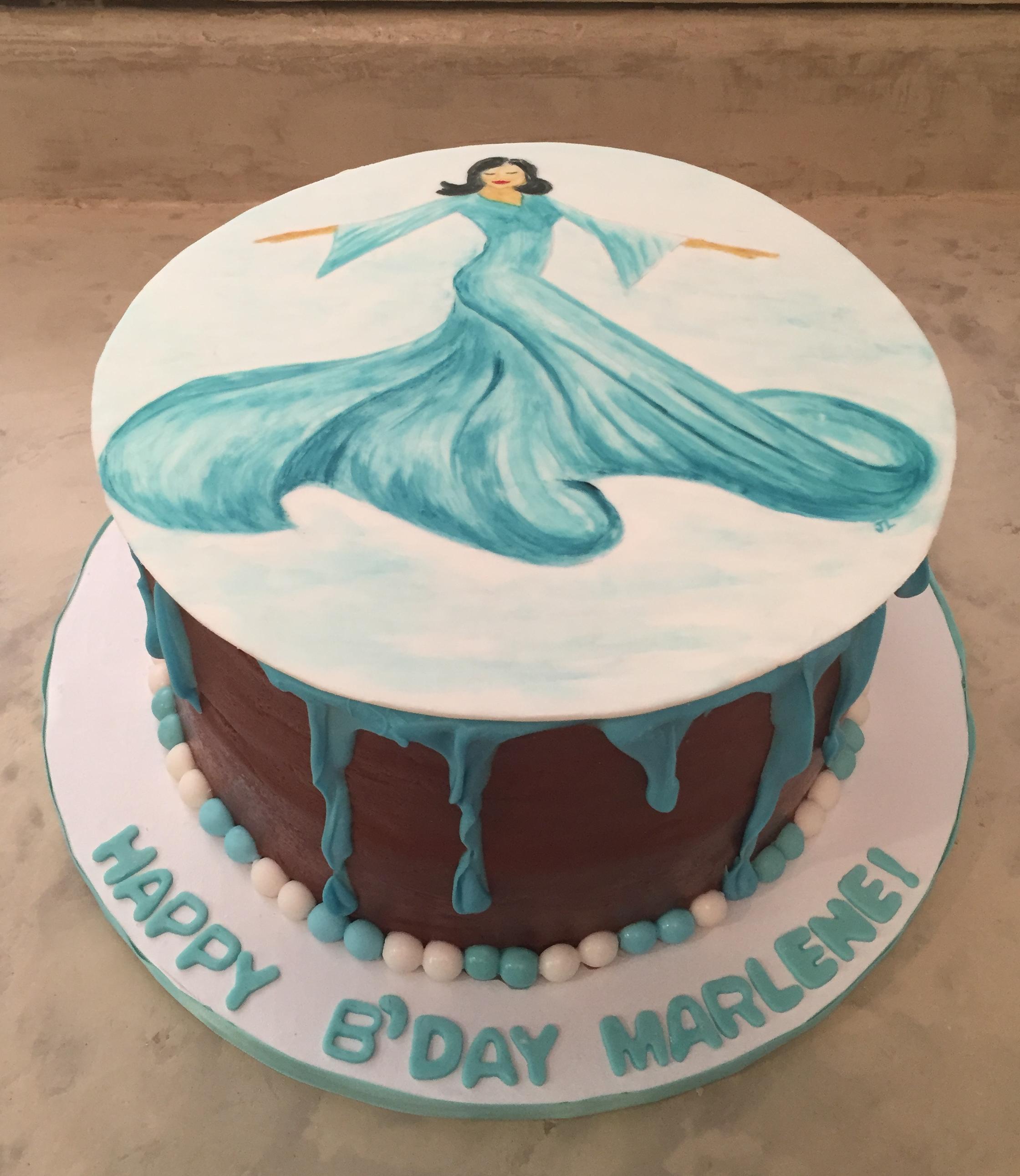 Hand Painted Drip Cake