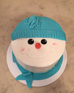 #snowmanfacecake #snowmancake