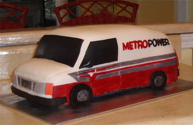 3-d Carved Van, corporate cake