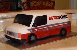 3-d Carved Van, corporate cake