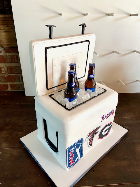 Ice Chest Groom's Cake