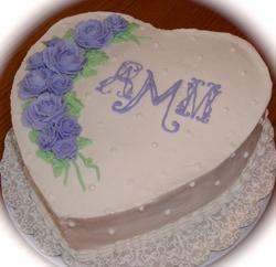 Valentines, Lavender Roses, initials