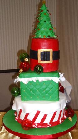 Hand blown sugar glass Christmas cak