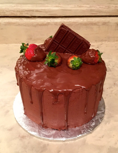 Chocolate w Chocolate Drip Cake