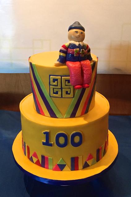 100 Days Korean Birthday Cake