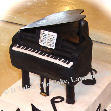 Carved 3-D Piano Cake