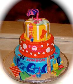 1st birthday 3 tier beach theme.png