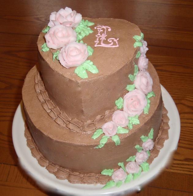 Valentines Chocolate Cake w Roses