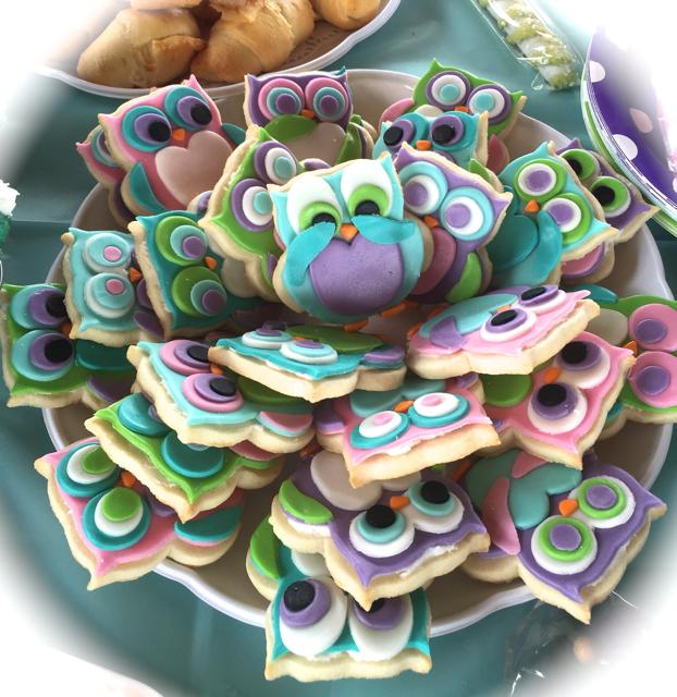 Birthday Owl Cookies