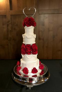 #weddingcake #rosesweddingcake