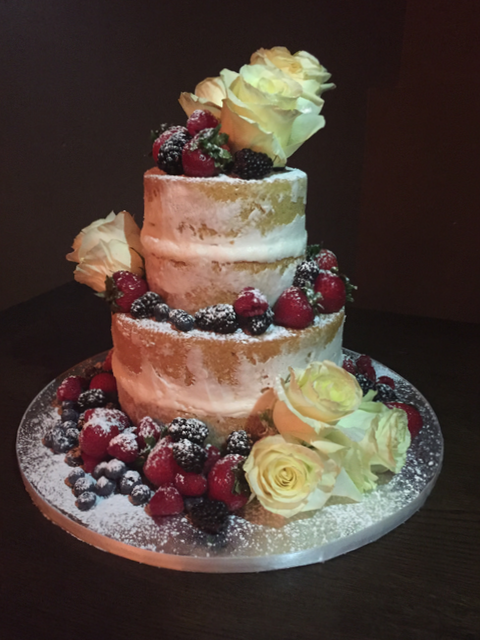Naked Cake with Fruit & Flowers