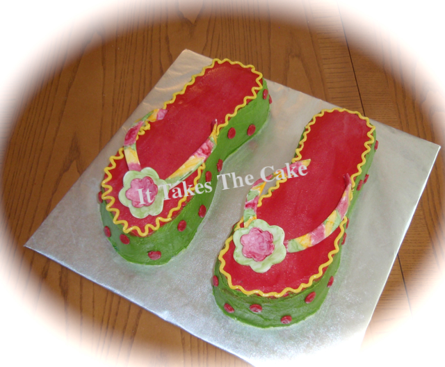 Flip Flops Sandals Cake.png