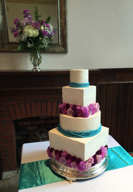 Wedding Cake Lavender Roses
