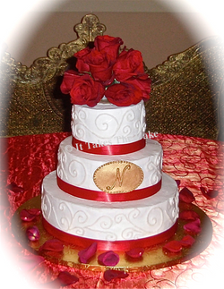 Medallion and roses wedding cake.png