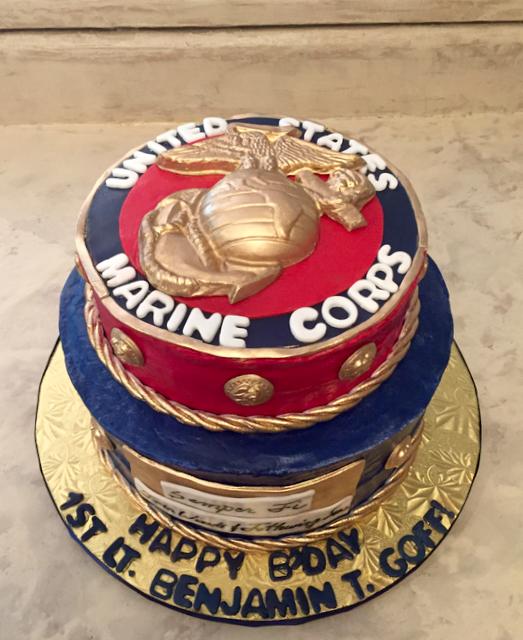 #USMCcake  Marine Corps cake