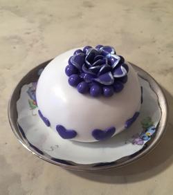 Temari White w Purple Flower