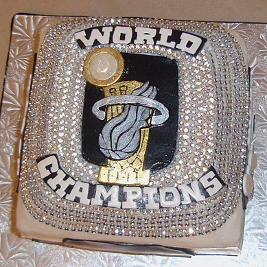 World Champion Ring cake