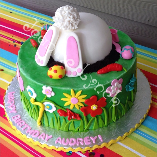 Easter Bunny Birthday Cake