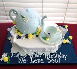 Tea Pot Teacup Cake
