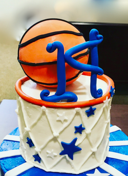 #3Dbasketballcake