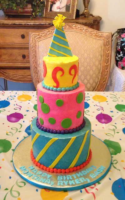 Birthday multi color stripes dots .png