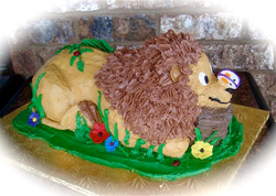 Carved all buttercream Lion cake