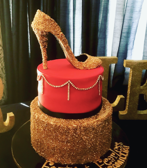 Sugar High Heel, Gold Pump