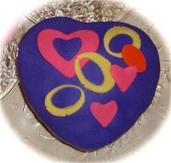Valentines Cake, Fondant Covered