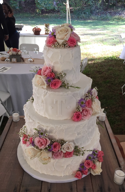 Wedding Buttercream Monogram Cake