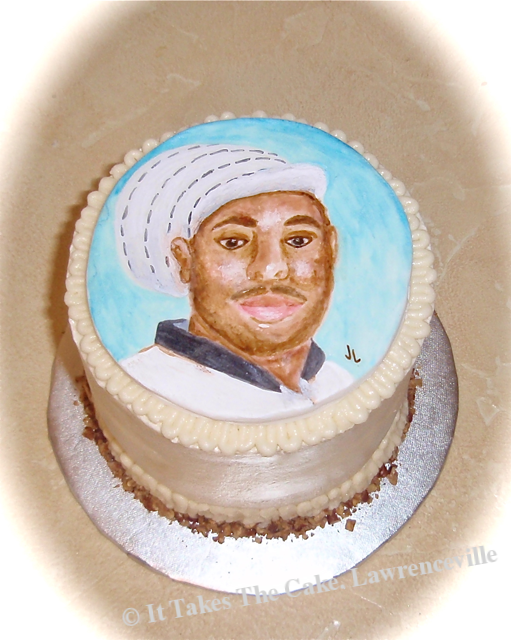 hand painted portrait cake