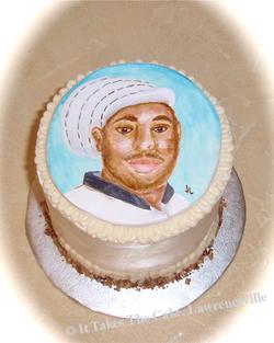hand painted portrait cake