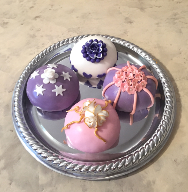 Temari Cake Balls on Tray