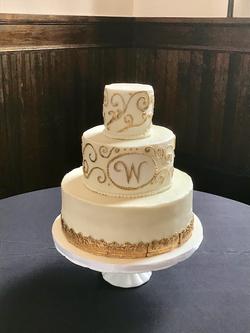#Lawrencevilleweddingcake