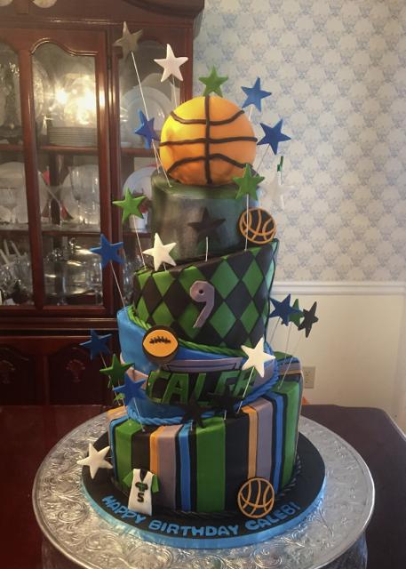 Birthday Basketball Topsy Turvy