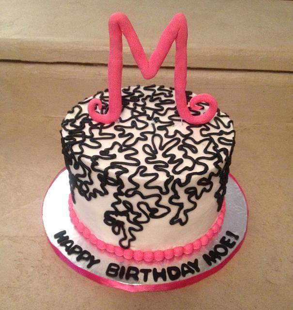 Birthday cornelli intital black pink