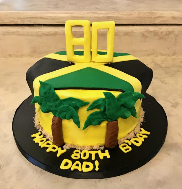 #jamaicanbirthdaycake