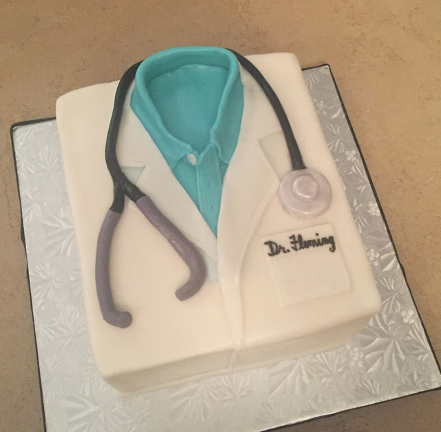Doctor's White Coat Doctor's cake