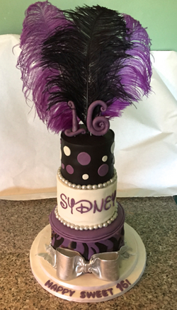 Sweet 16 Birthday Purple feathers