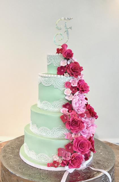 #sugarflowers #weddingcake