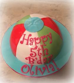 Beachball cake
