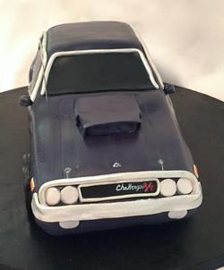 Carved 3-D car cake front