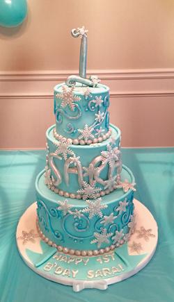 #1stBirthday #Wintercake