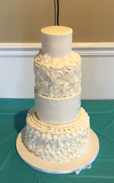All Buttercream Wedding Cake