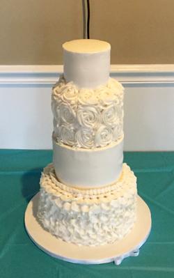All Buttercream Wedding Cake