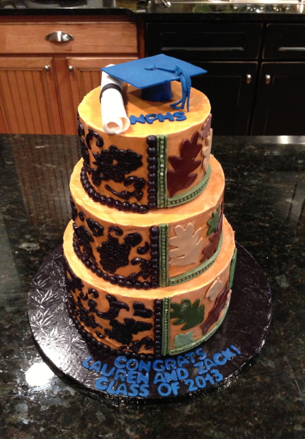 Graduation Split Cake